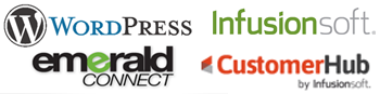 My Web designer specialties: Emerald Connect, Wordpress, Customerhub, Infusionsoft